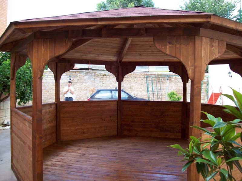Gazebo in legno ciprari legnami for Gazebo legno arredamento